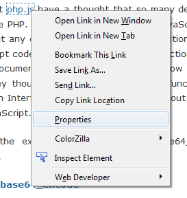 Firefox.3.6 element properties plugin