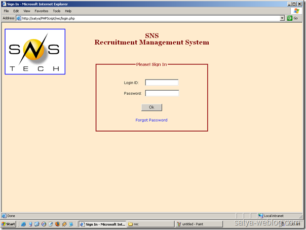 Recruitment Management System at http://www.snstech.com/