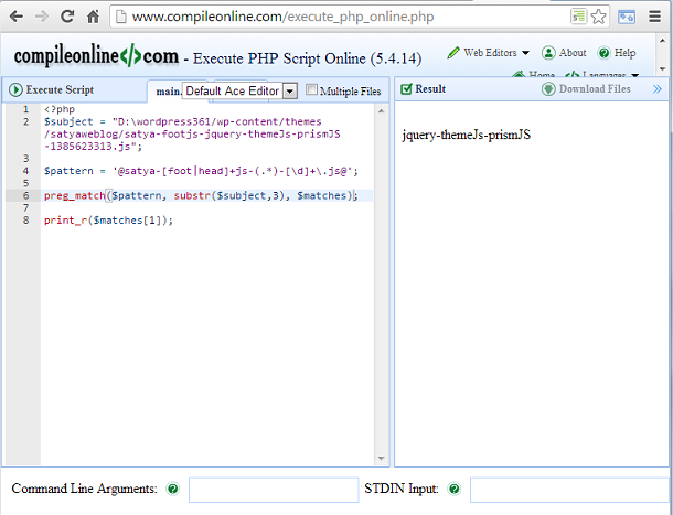 php code online